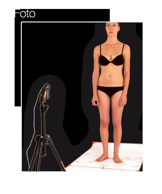 Esempio di setup sistema di analisi fotografica della postura  - Postural Experience